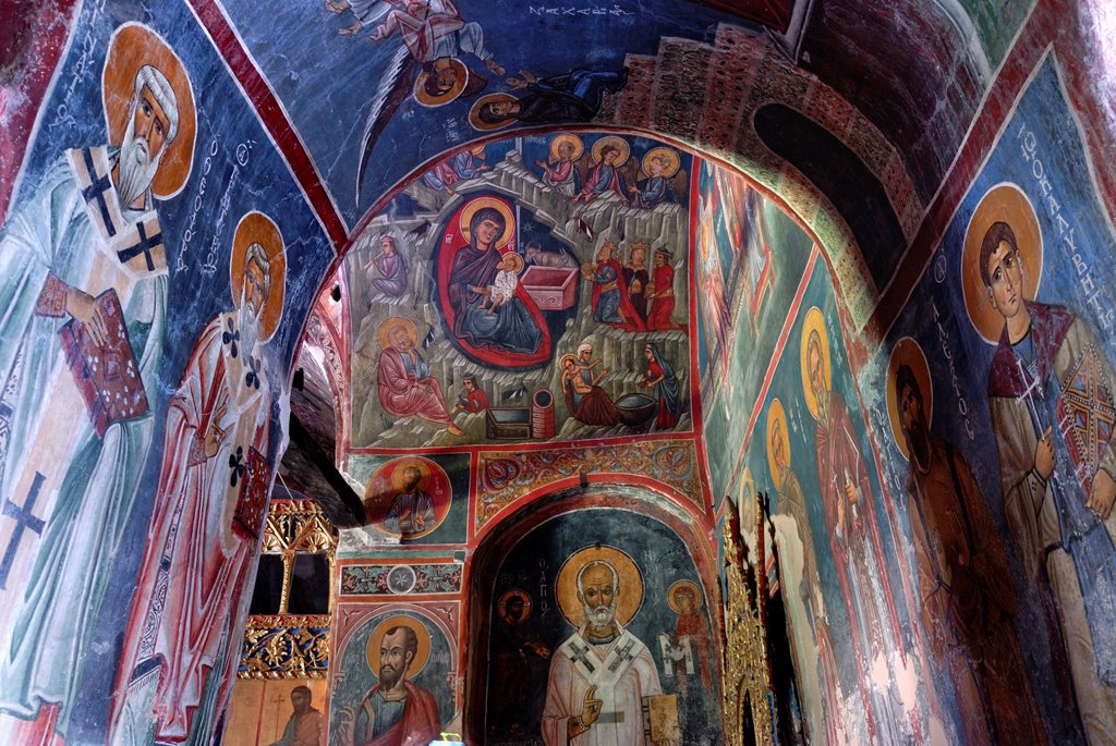 Stock Photo: 1566-1037175 fresco of Ayios Nikolaos tis Stegis church, Kakopetria, Cyprus, Eastern Mediterranean Sea island, Eurasia