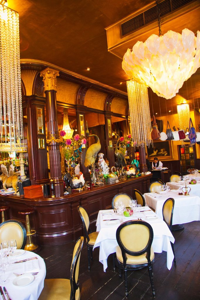 Les Trois Garcons Restaurant  London  England  United Kingdom. : Stock Photo