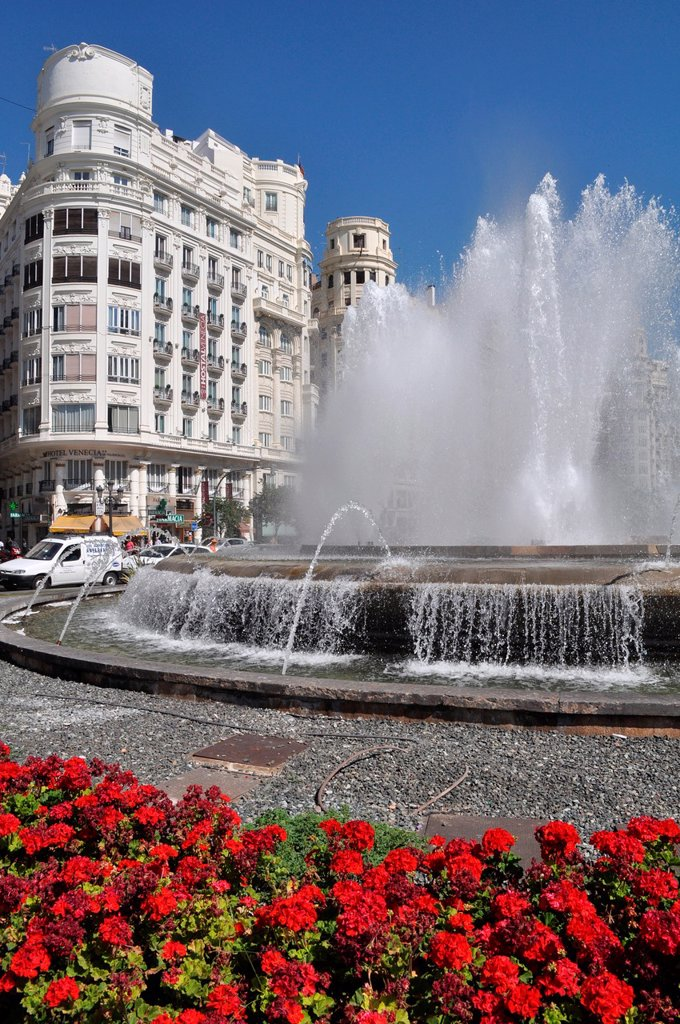 Stock Photo: 1566-1037521 Valencia, Spain: Plaza del Ayuntamiento