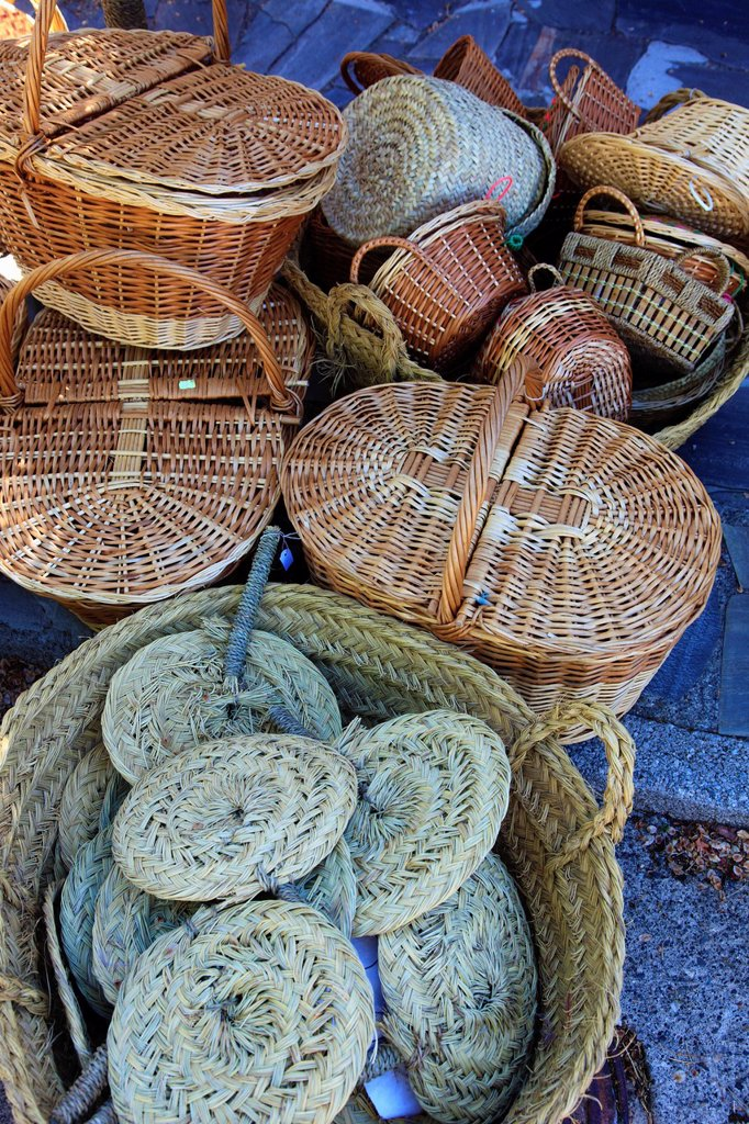 Stock Photo: 1566-1037766 Spain, Andalusia, Las Alpujarras, Capileira, handicraft, baskets,