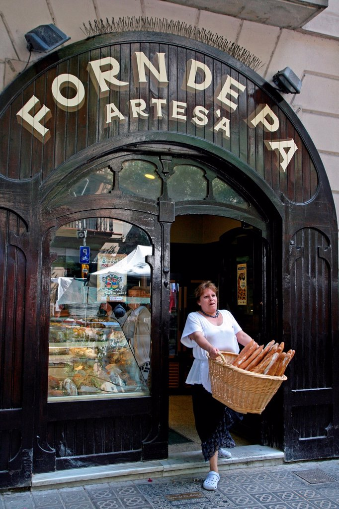 bakery, Eixample district, Barcelona, Catalonia, Spain : Stock Photo
