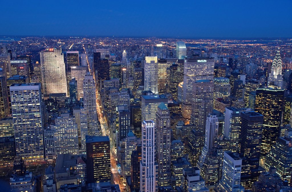 Stock Photo: 1566-1038718 MIDTOWN SKYLINE MANHATTAN NEW YORK CITY USA