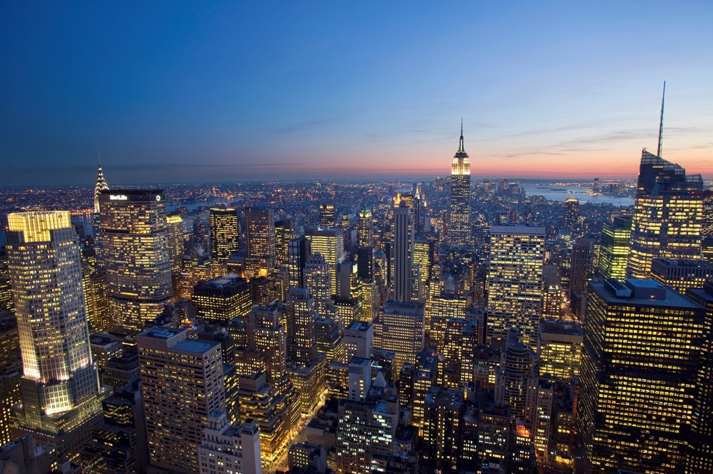 Stock Photo: 1566-1039496 MIDTOWN SKYLINE MANHATTAN NEW YORK CITY USA