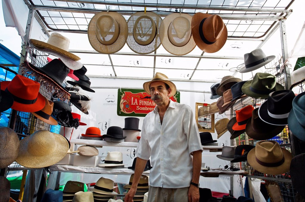 San Telmo antique street market, Buenos Aires, Argentina. : Stock Photo