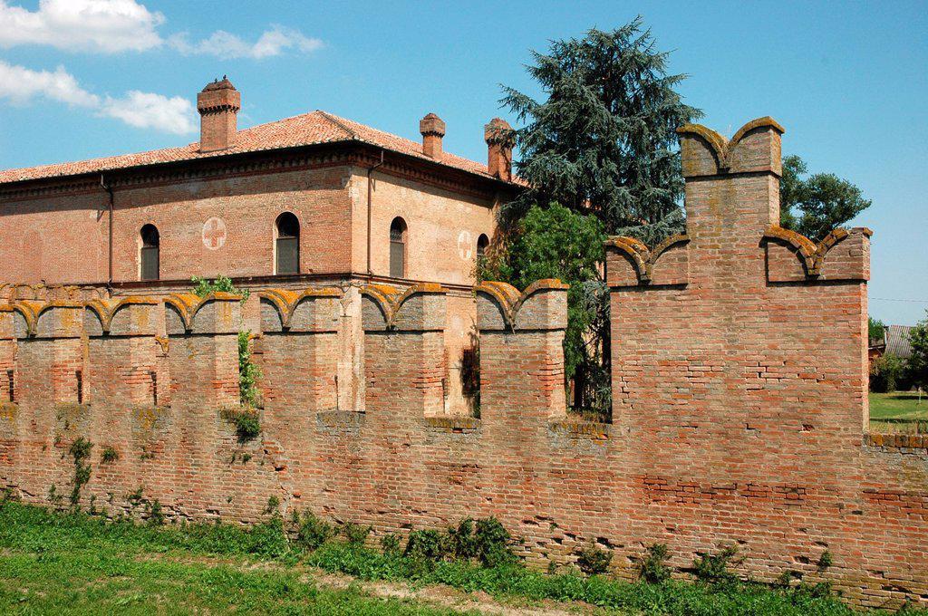 Bentivoglio, Emilia-Romagna, Italy: the Castle : Stock Photo