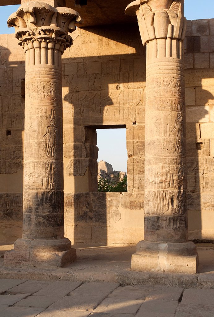 Stock Photo: 1566-1039766 Isis temple, Agilkia island, Philae, Aswan, Egypt