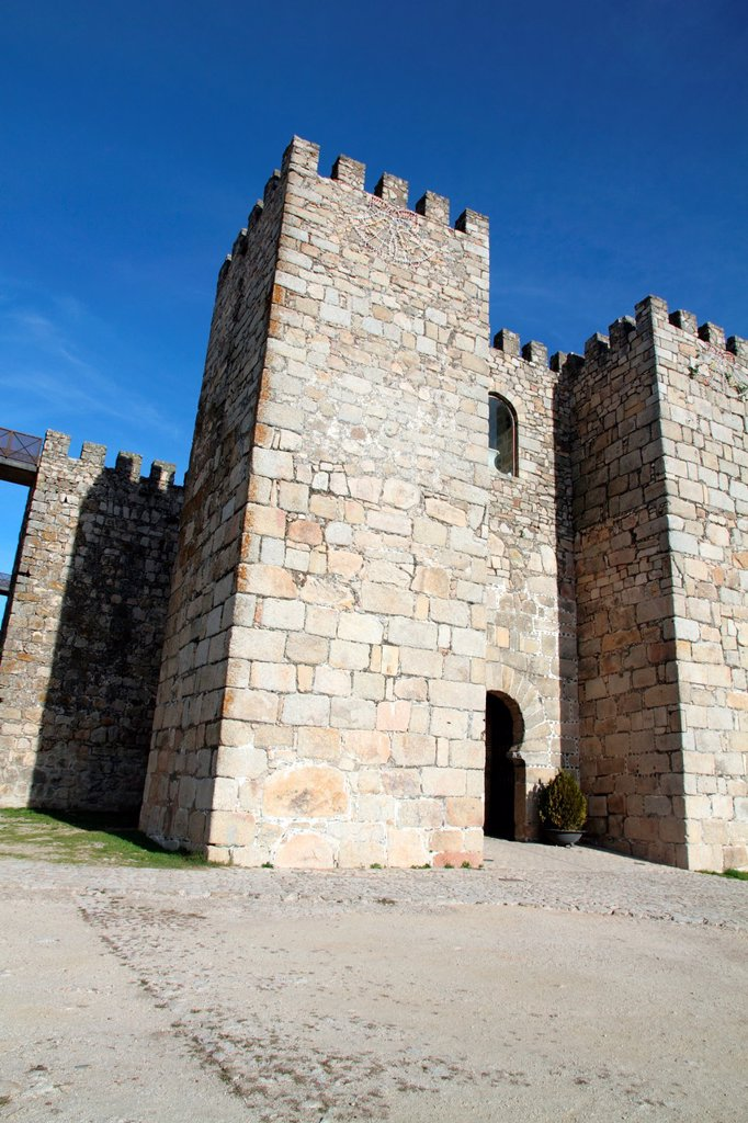 Castle in Trujillo, Caceres province, Extremadura, Spain : Stock Photo