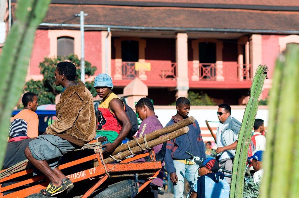 Stock Photo: 1566-1040041 Street scene, Antananarivo, Madagascar