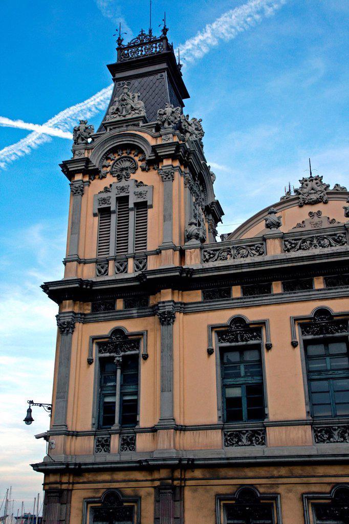 Stock Photo: 1566-1040101 Capitania building, Port of Barcelona, Catalonia, Spain