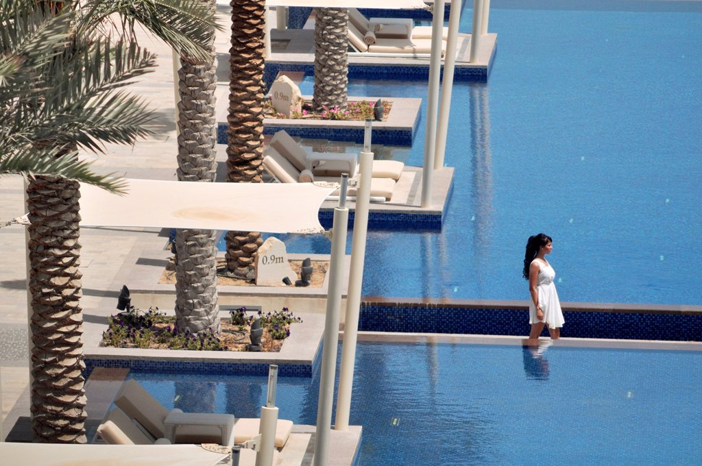 Abu Dhabi, United Arab Emirates: Hotel Park Hyatt Abu Dhabi, at Saadiyat Island : Stock Photo