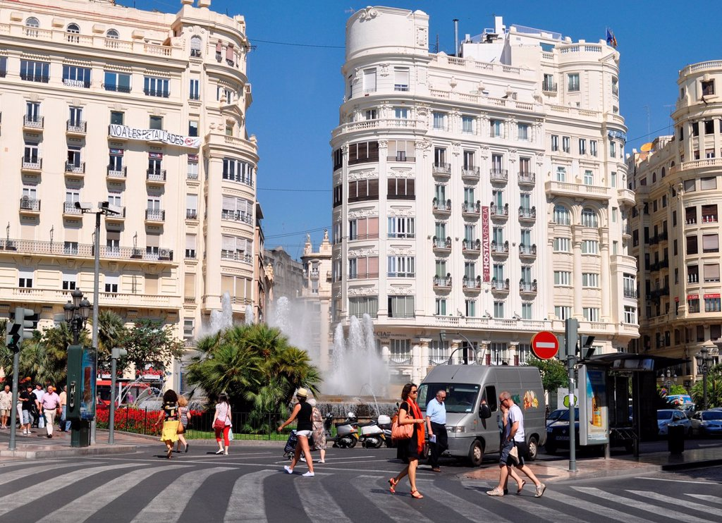 Stock Photo: 1566-1040717 Valencia, Spain: Plaza del Ayuntamiento