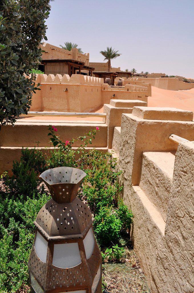 Stock Photo: 1566-1041508 Abu Dhabi, United Arab Emirates: Qasr Al Sarab Desert Resort
