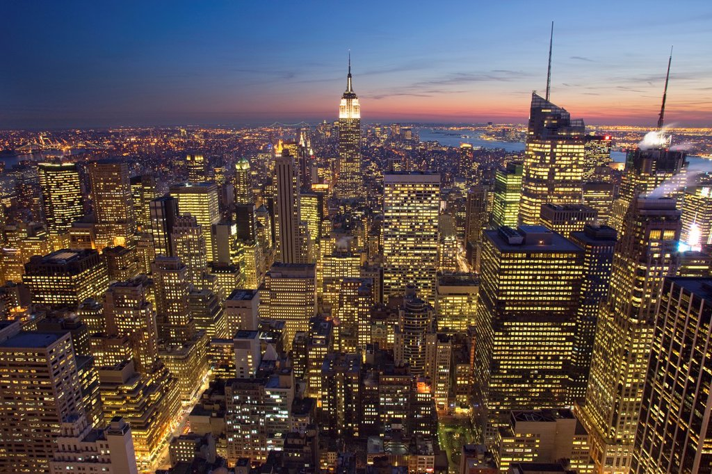 Stock Photo: 1566-1041819 MIDTOWN SKYLINE MANHATTAN NEW YORK CITY USA