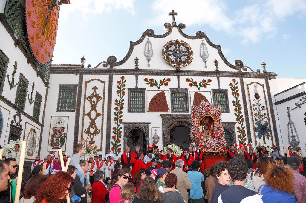 Stock Photo: 1566-1042371 Senhor Santo Cristo dos Milagres Our Lord Holy Christ of Miracles religious festival  Ponta Delgada, Azores, Portugal