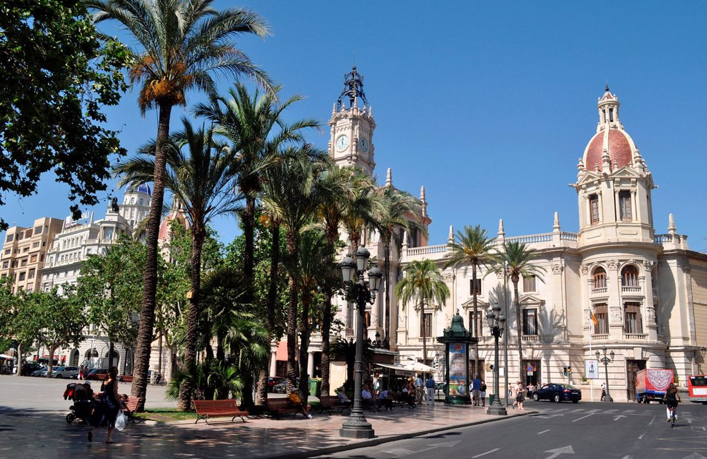Stock Photo: 1566-1042632 Valencia, Spain: Plaza del Ayuntamiento