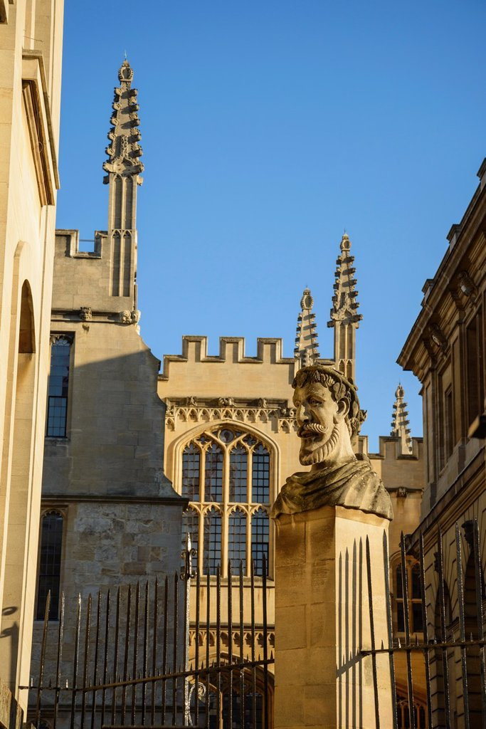 Stock Photo: 1566-1044708 University of Oxford by the Bodleian Library and Sheldonian, Oxford, England, UK