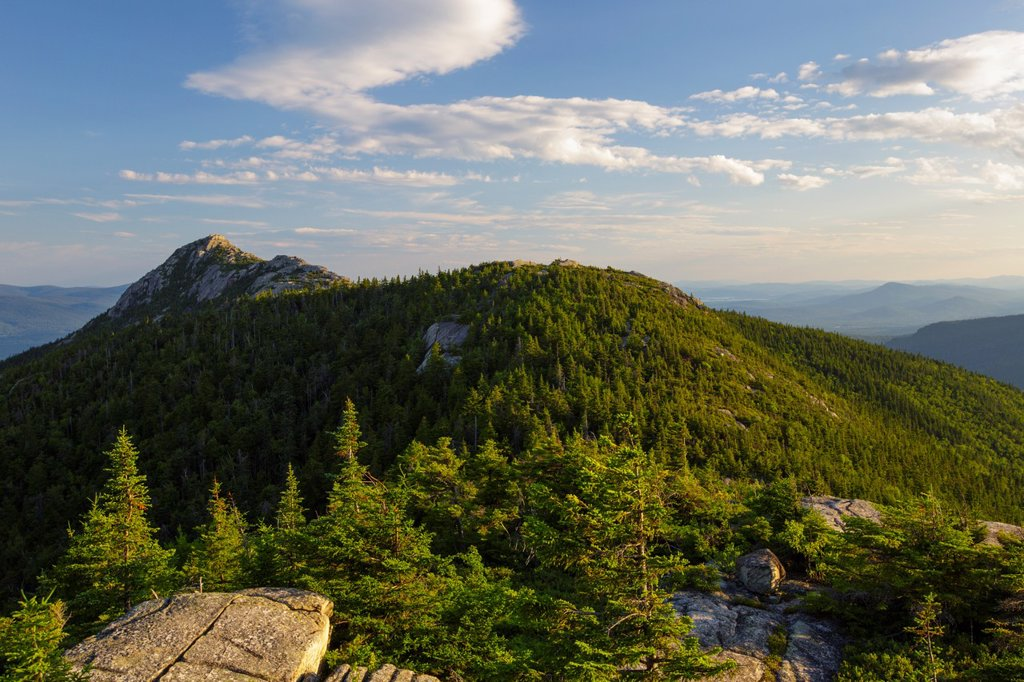 Stock Photo: 1566-1045359 Mount Chocorua from Middle Sister Mountain in Albany, New Hampshire USA during the summer months