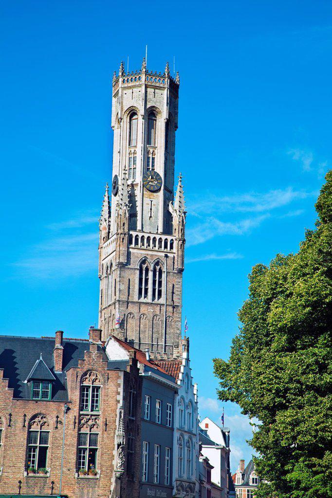 Stock Photo: 1566-1046102 Belfort, Belfry, Markt Place - Market Square, Brugge, Bruges, Flanders, Belgium.