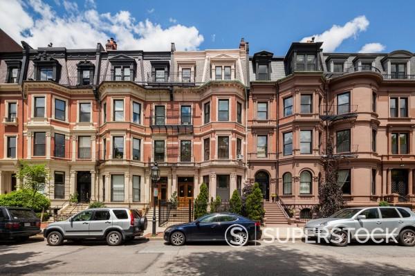 Stock Photo: 1566-1046719 Commonwealth Avenue Victorian Houses, Boston