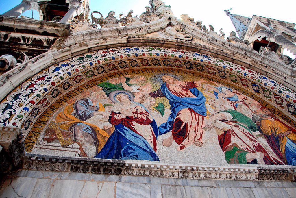 Stock Photo: 1566-1047015 Basilica di San Marco, Piazza San Marco, San Marco, Venice, Veneto, Italy, Europe