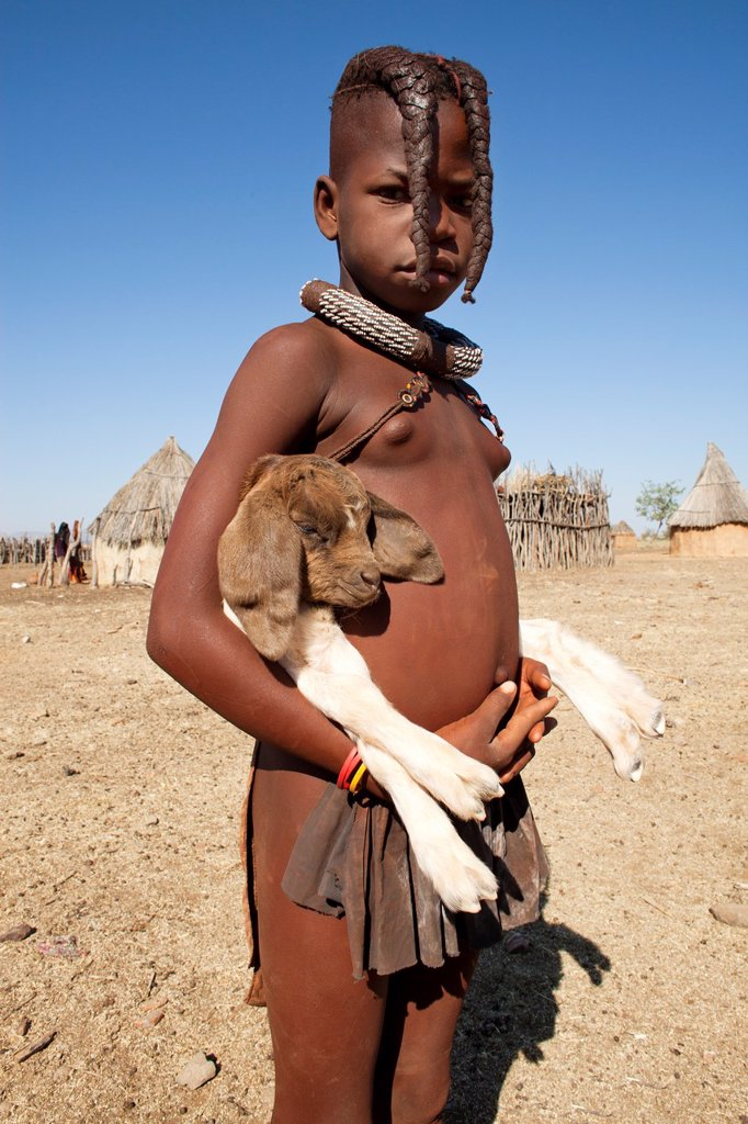 Stock Photo: 1566-1047122 Himba tribe in Namibia