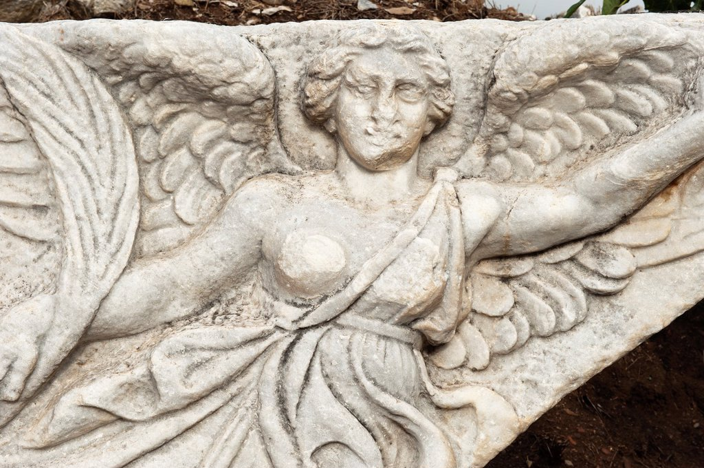 Stock Photo: 1566-1047155 Nike sculpture, the Victory Goddess, Ephesus, Izmir Province, Turkey
