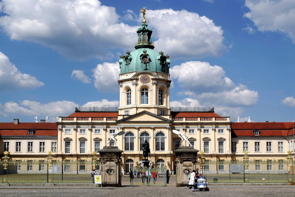 Charlottenburg Palace in Berlin - Caution: For the editorial use only Not for advertising or other commercial use! : Stock Photo