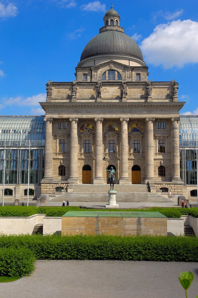 Stock Photo: 1566-1047465 Bavarian State Chancellery (Bayerische Staatskanzlei), Hofgarten, Munich, Bavaria, Germany