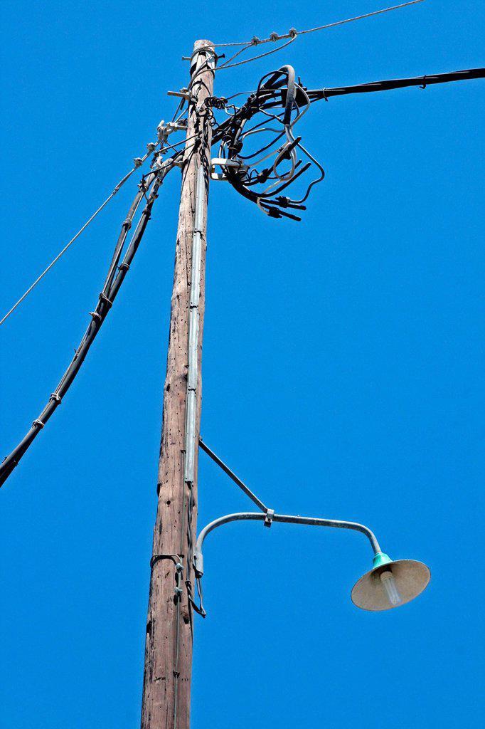 Stock Photo: 1566-1047947 lamppost, Mykonos, Greece