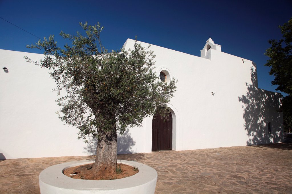 Santa Agnes de Corona Church at Ibiza, Balearic Islands, Spain : Stock Photo