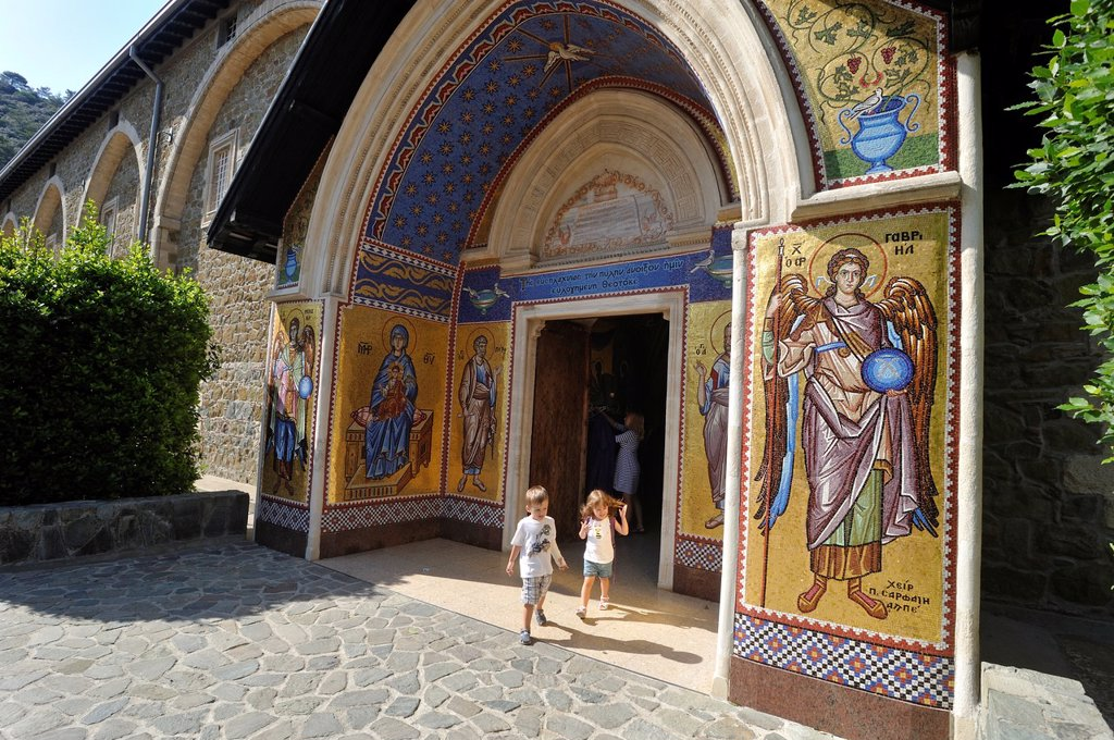 Stock Photo: 1566-1048686 main entrance of Kykkos Monasterry, Troodos Mountains, Cyprus, Eastern Mediterranean Sea island, Eurasia