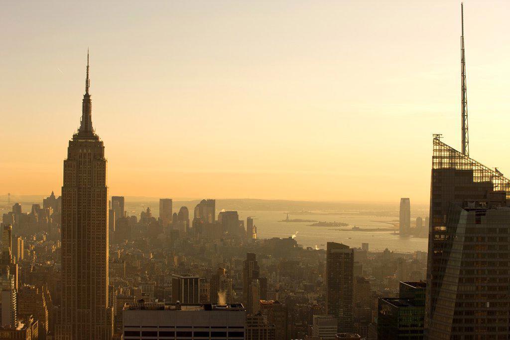Stock Photo: 1566-1048960 EMPIRE STATE BUILDING MIDTOWN SKYLINE MANHATTAN NEW YORK CITY USA