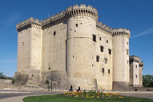 Stock Photo: 1566-1049 King René´s Castle. Tarascon. Bouches-du-Rhône. Provence. France.