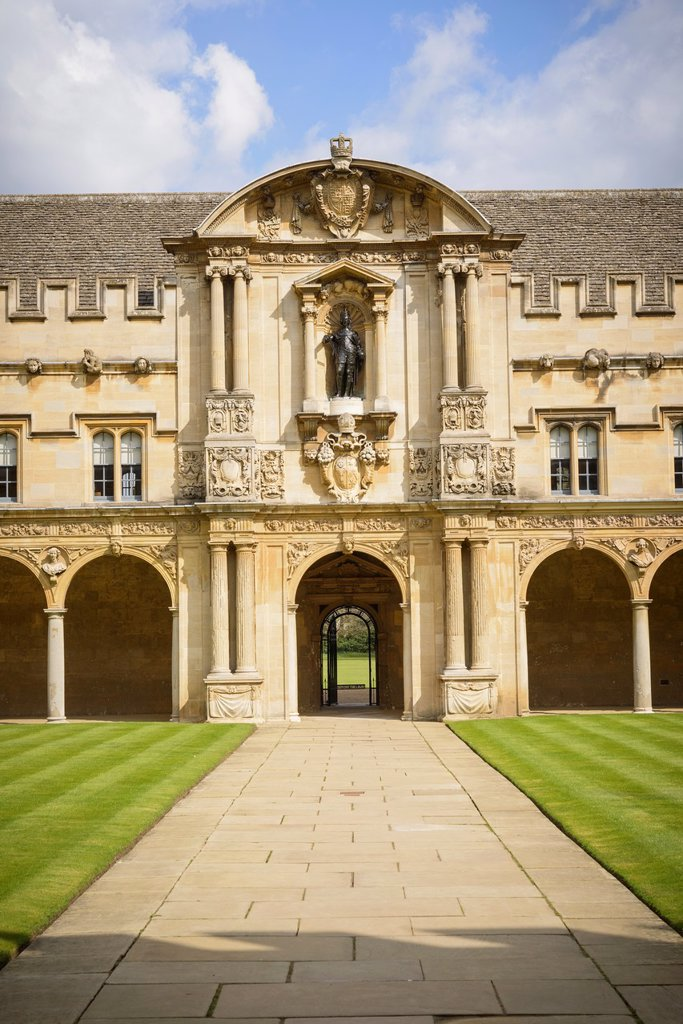 Quadrangle, St John´s College, Oxford University, UK : Stock Photo