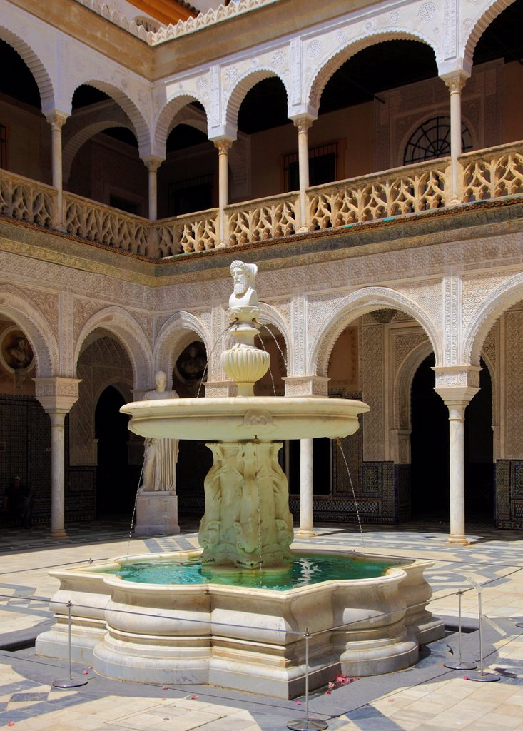 Stock Photo: 1566-1049685 Spain, Andalusia, Seville, Casa de Pilatos,