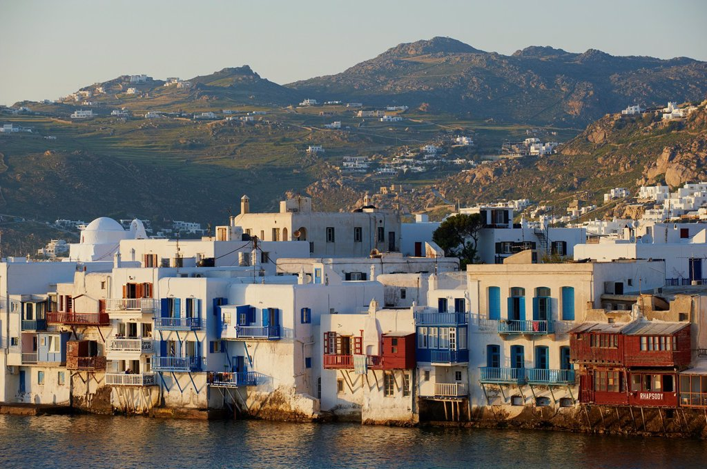 Stock Photo: 1566-1050430 Greece, Cyclades, Mykonos island, Chora, Mykonos town, Little Venice