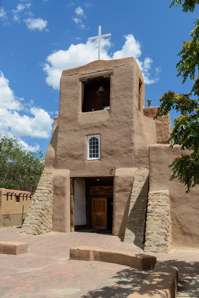 San Miguel Mission Church, Santa Fe, New Mexico, USA : Stock Photo