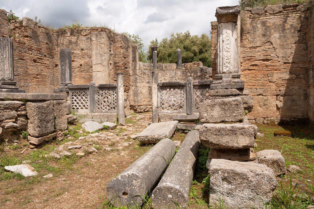 Stock Photo: 1566-1051588 The Workshop of Pheidias, Olympia, Greece