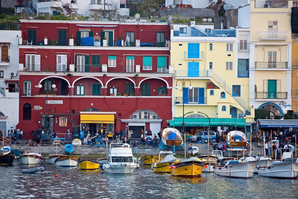 Stock Photo: 1566-1051776 Marina Grande  Island of Capri  Bay of Naples  Campania  Italy.
