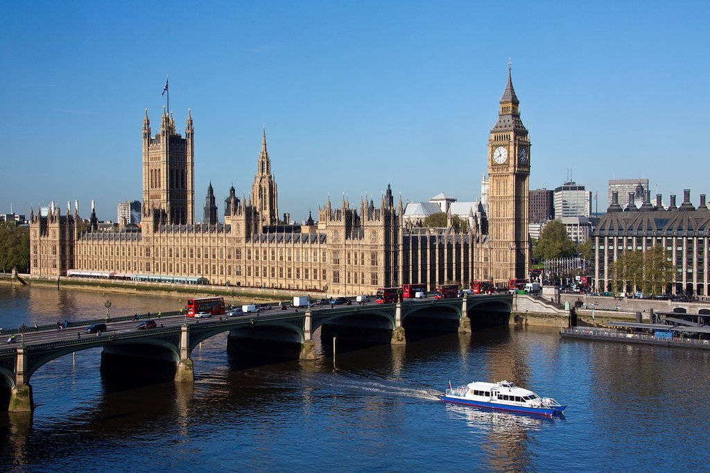 UK, London City,Palace of Westminster, Houses of Parliament : Stock Photo