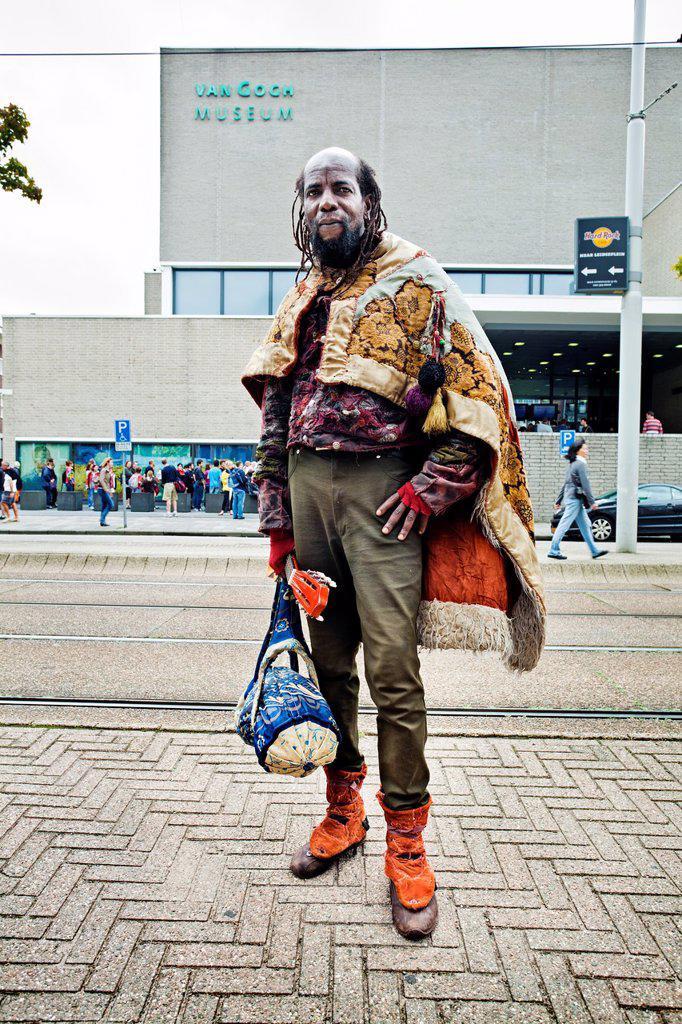 Stock Photo: 1566-1052257 Man, Van Gogh Museum, Amsterdam, Netherlands.