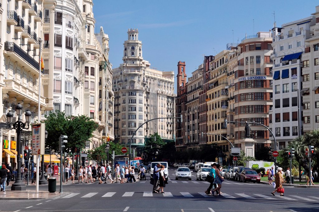 Stock Photo: 1566-1052367 Valencia, Spain: Plaza del Ayuntamiento