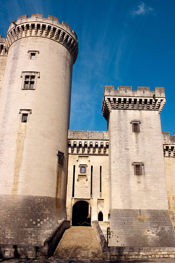 Stock Photo: 1566-1053 King René´s Castle. Tarascon. Bouches-du-Rhône. Provence. France.