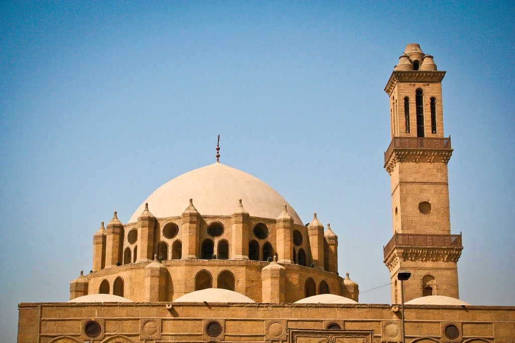 Exterior of Mosque of Mohammad Bek Abu Al-Dahab, Cairo, Egypt : Stock Photo
