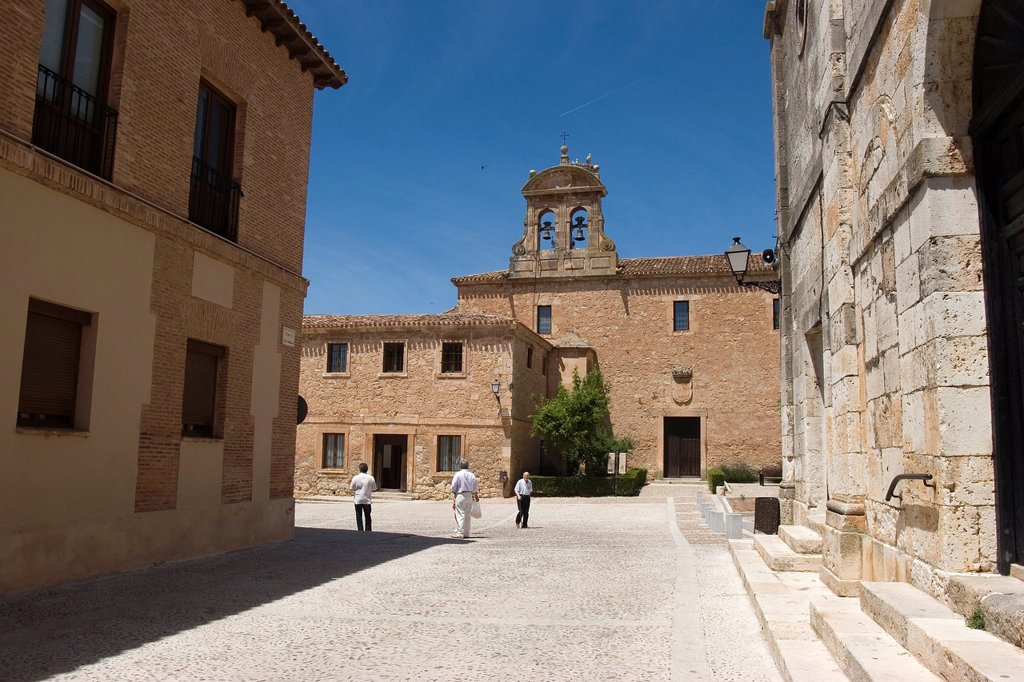 Stock Photo: 1566-1054635 Monastery of the Ascension of Our Lord from the Monastery of Santa Teresa, Lerma, Burgos, Castile and Leon, Spain, Europe