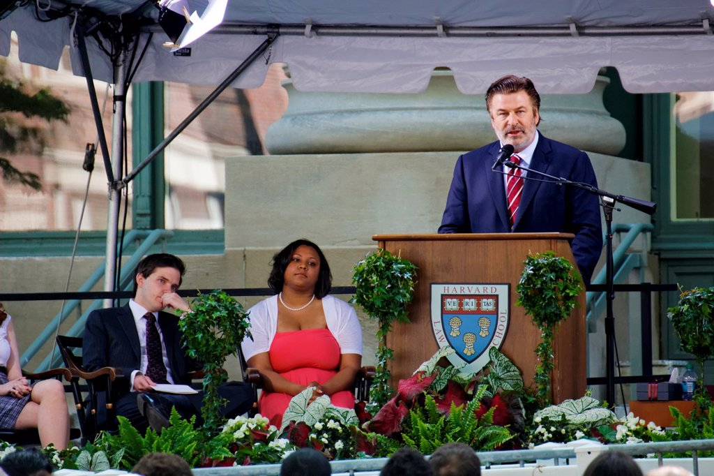 Stock Photo: 1566-1056097 Alec Baldwin at the HLS Commencement 2011 Harvard Law School graduation in Cambridge, MA