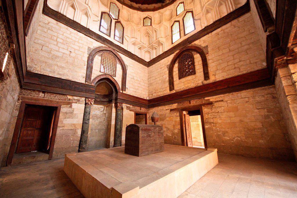Mausoleum of Sultan Qalawun, Cairo, Egypt : Stock Photo