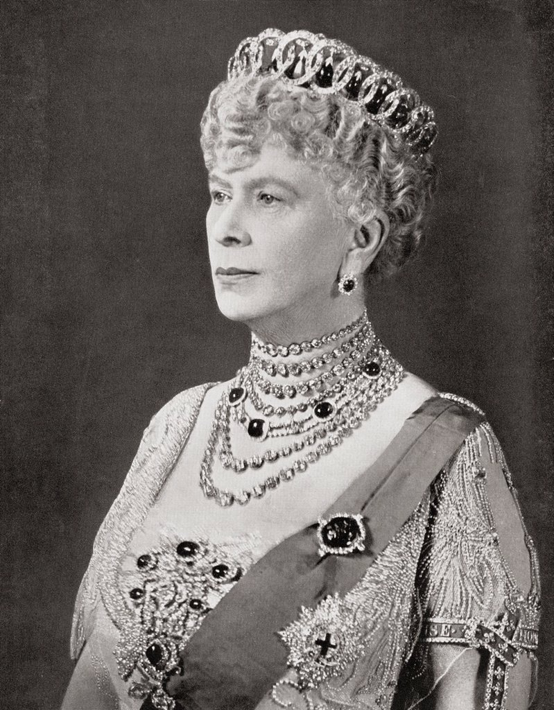 Mary of Teck, 1867 –1953  Queen consort as wife of George V  From The Coronation of their majesties King George VI and Queen Elizabeth, Official Souvenir Programme published 1937 : Stock Photo
