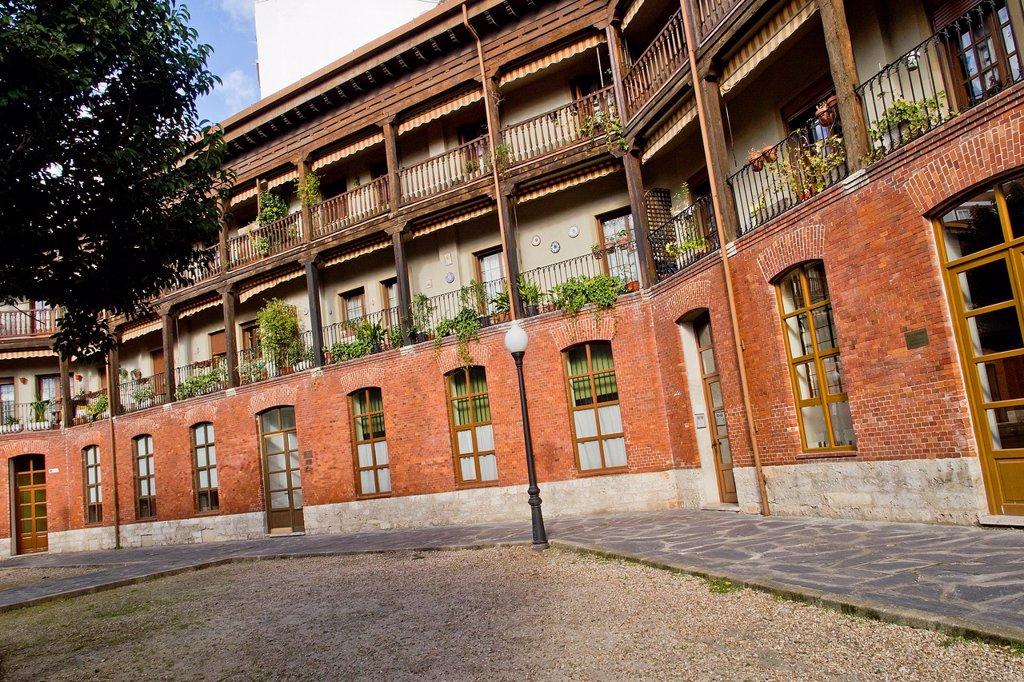 Stock Photo: 1566-1058266 Plaza of Viejo Coso, 1833 Bullring, Valladolid, Castilla y León, Spain, Europe
