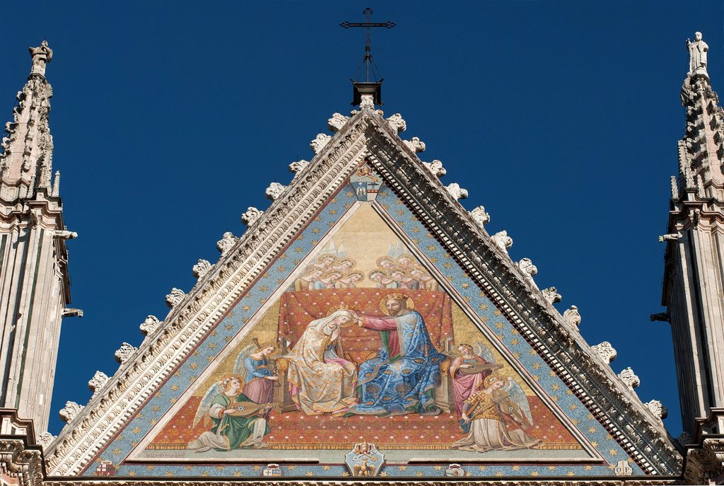 Stock Photo: 1566-1058527 Orvieto Cathedral  Detail of facade  Orvieto  Terni Province  Umbria  Italy